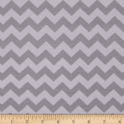 Riley Blake Knit Small Chevron Tone on Tone Gray