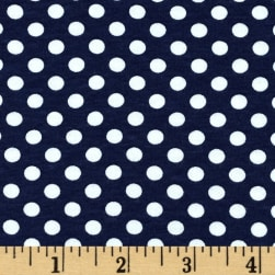 Riley Blake Jersey Knit Small Dots Navy Fabric