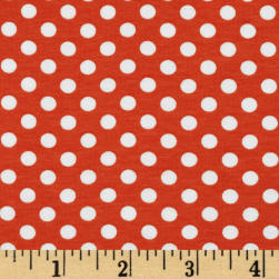 Riley Blake Jersey Knit Small Dots Orange Fabric