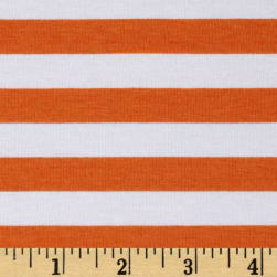 "Riley Blake Cotton Jersey Knit 1/2"" Stripes Orange"