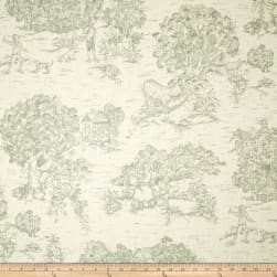 Pastoral Toile Ivory/Cerulean Sage Fabric