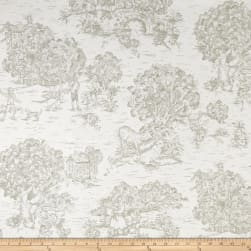 Pastoral Toile Ivory/Taupe Fabric