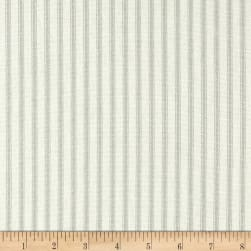 Vertical Ticking Stripe Sage Fabric