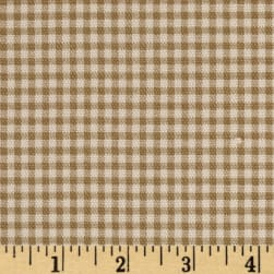 Small Check Ivory Brown Fabric