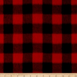 Winter Fleece Buffalo Plaid Red Fabric
