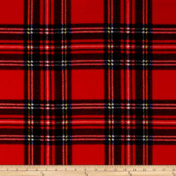Winter Fleece Stewart Plaid Red Fabric