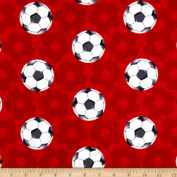 Kanvas All Stars Football Red Fabric
