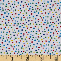 Essentials Petite Dots White Multi Fabric