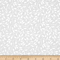 Essentials Climbing Vine White on White Fabric