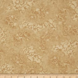 "108"" Essential Flannel Quilt Back Scroll  Dark Creme"