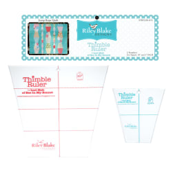 "Lori Holt Thimble Ruler Kit 10"", 5"""