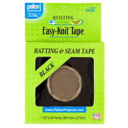 1-1/2'' Pellon ST-EK151 Easy-Knit Tape Black - 30