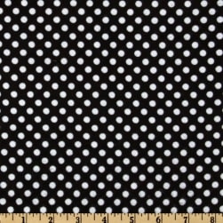 Flannel Polka Dots Black/White