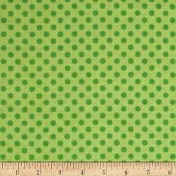 Flannel Polka Dots Green