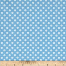 Flannel Polka Dots Light Blue