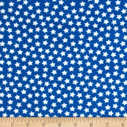 Flannel Stars Royal Fabric