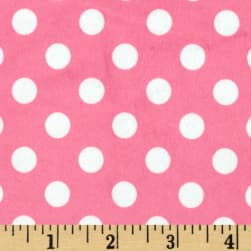 Minky Minnie Dots Hot Pink/White Fabric
