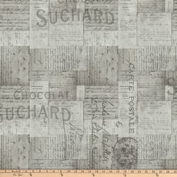 Tim Holtz Eclectic Elements French Script Taupe Fabric