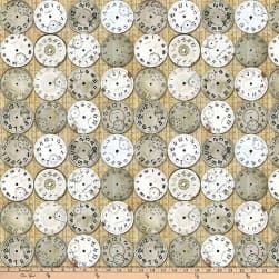 Tim Holtz Eclectic Elements Timepieces Neutral Fabric