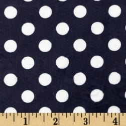 Minky Minnie Dots Navy/White Fabric