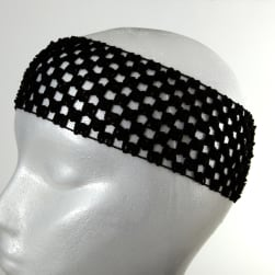 2 3/4'' Crochet Headband Black