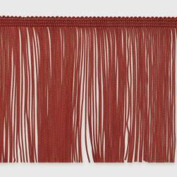 "4"" Chainette Fringe Trim Cranberry"