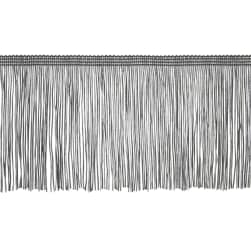 "4"" Chainette Fringe Trim Pewter"