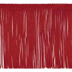 "6"" Chainette Fringe Trim Red"
