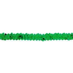 "7/8"" Hologram Stretch Sequin Trim Green"