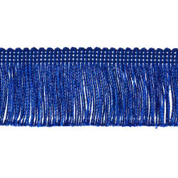 "2"" Metallic Chainette Fringe Trim Royal Blue"