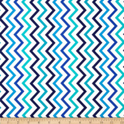 Michael Miller Mini Chic Chevron Marine Fabric