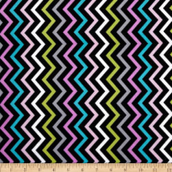 Michael Miller Mini Chic Chevron Pink