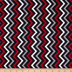 Michael Miller Mini Chic Chevron Rouge Fabric