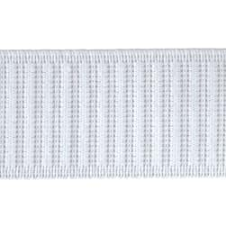 "1-1/2"" x 25 Non-Roll Ribbed Elastic White"