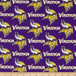 NFL Cotton Broadcloth Minnesota Vikings Fabric