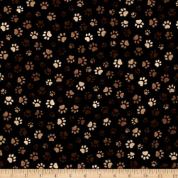 Timeless Treasures Paw Print Mud Fabric