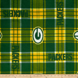 NFL Greenbay Packers Plaid Fleece Green/Yellow Fabric