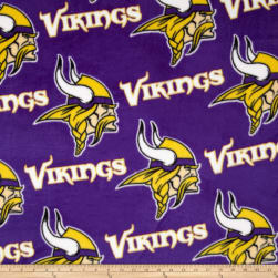 NFL Fleece Minnesota Vikings All Over Purple Fabric