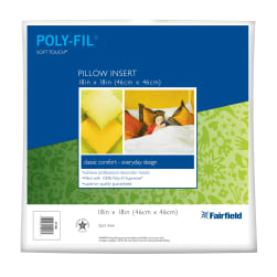 "Fairfield Soft Touch Supreme Poly-Fil Pillow 18"" Square"