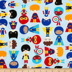 Super Kids Super Boys Blue Adventure Fabric
