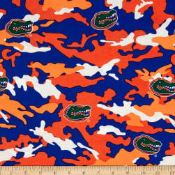 Collegiate Cotton Broadcloth University of Florida Camouflage Fabric