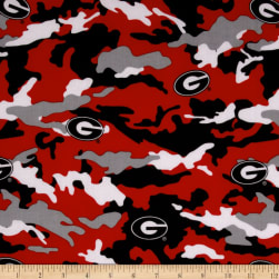Collegiate Cotton Broadcloth University of Georgia Camouflage