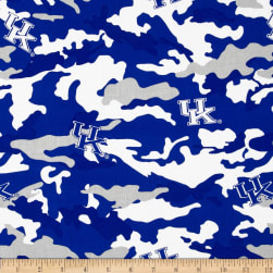 University of Kentucky Cotton Camouflage Blue Fabric