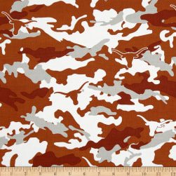Collegiate Cotton Broadcloth University of Texas  Cotton Camouflage