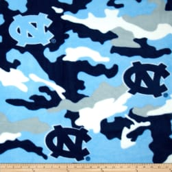 Collegiate Fleece University of North Carolina Camo Fabric