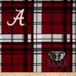 University of Alabama Fleece Plaid Camo Fabric