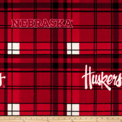 Collegiate Fleece University of Nebraska Plaid Camo