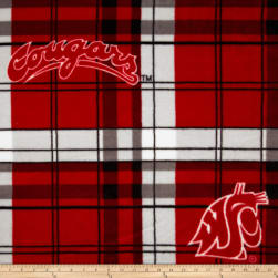 Washington State Fleece Plaid Camo Fabric