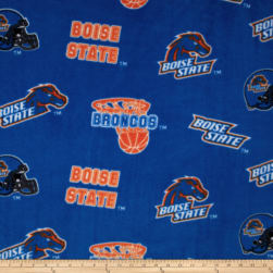 Boise State University Fleece Blue Fabric