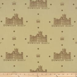 Downton Abbey Crest Tan Fabric